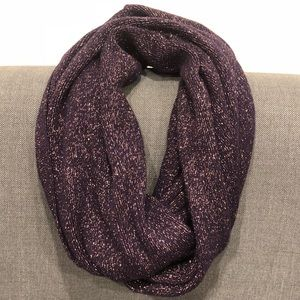 Purple and Gold Infinity Scarf